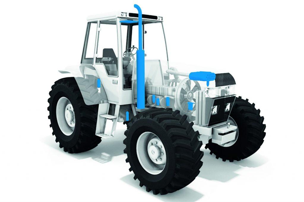Filter og filtre i en traktor
